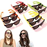 Neon Sunglasses - 80's Retro Vintage Party Sunglasses for Kids - 24 Pieces | Assorted Children's Rave Shades Party Pack | Cool Novelty Plastic Eyewear for all Occasions