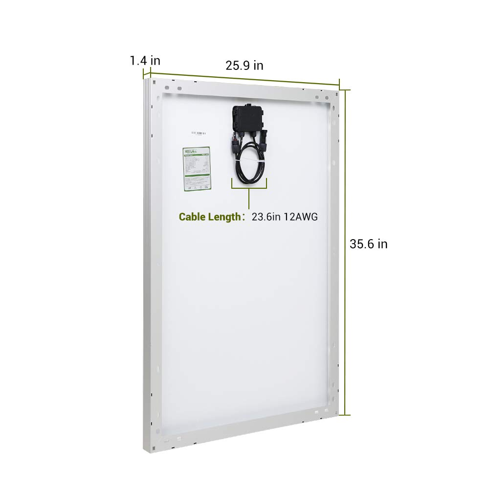 4 Pieces HQST 100 Watt 12 Volt Polycrystalline Solar Panel