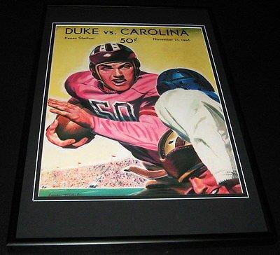 1946 North Carolina vs Duke Football Framed 10x14 Poster Official Repro
