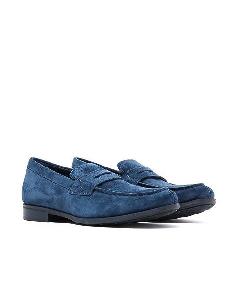 Mocasines para mujer, color Azul , marca GEOX, modelo Mocasines Para Mujer GEOX U BESMINGTON Azul: Amazon.es: Zapatos y complementos