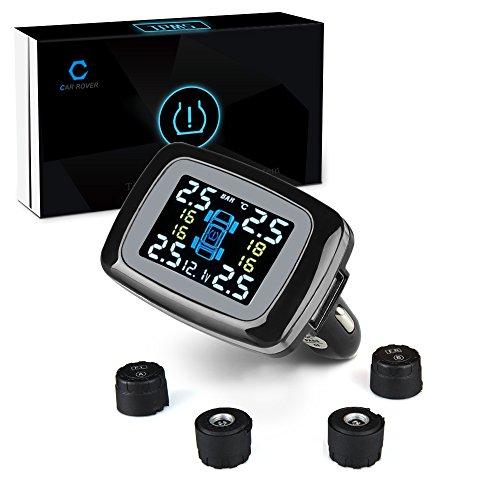 Car Rover® Capteur/Moniteur (ensemble ) de pression sur pneu de voiture, TPMS Système de sécurité d'alarme sans fil(Capteur externe) lovely