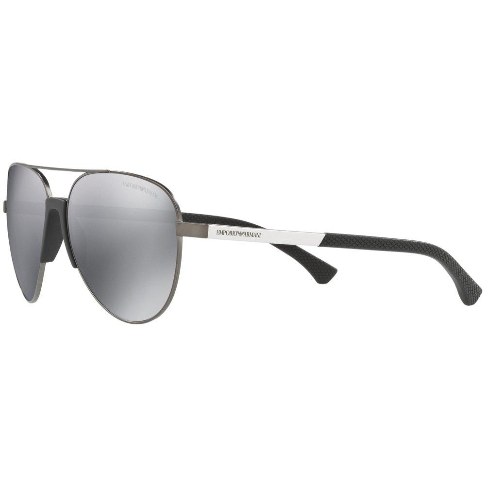 45418a42d7f6 Amazon.com  Emporio Armani EA2059 30106G Matte Gunmetal EA2059 Pilot  Sunglasses Lens Catego  Emporio Armani  Clothing