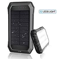 Solar Charger with Strong LED Flashlight...