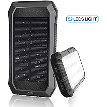 Amazon Com Solar Charger Dizaul 5000mah Portable Solar