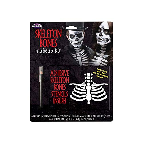 Fun World Unisex-Adult's Bones Make Up Kit, Multi, Standard ()