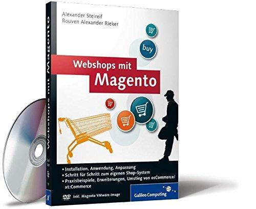 Price comparison product image Webshops mit Magento: Plug-ins,  Erweiterungen,  Umstieg von xt:Commerce,  Online-Shops einrichten,  Inkl. Magento VMware-Image (Galileo Computing)