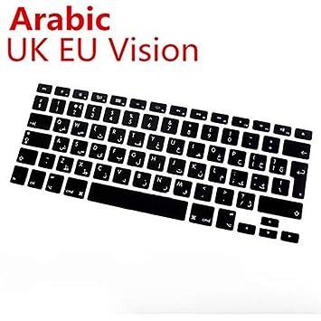 Visione degli Stati Uniti Arabo NAttnJf San Valentino Regalo Multi Language Silicon Cover Tastiera per MacBook Air PRO Retina Mac 13 15 17inch