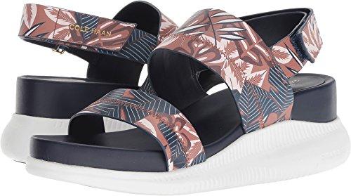 Cole Haan Women's 2.Zerogrand Slide Sandal, Tropical Printed Leather/Optic, 7 B US