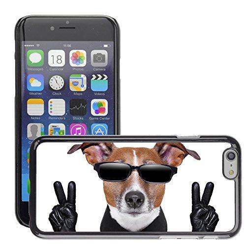 """Premio Sottile Slim Cassa Custodia Case Cover Shell // V00001661 chien en noir // Apple iPhone 6 6S 6G PLUS 5.5"""""""