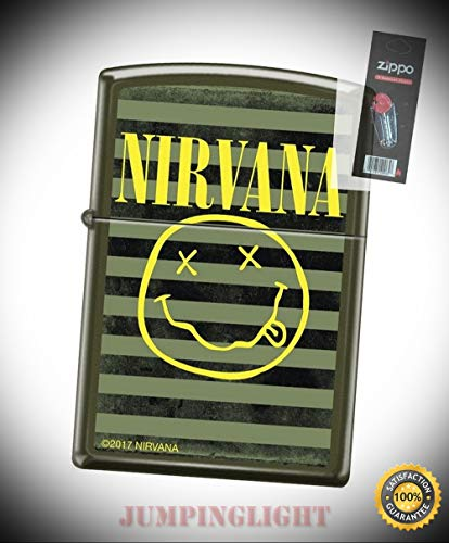 2120 Nirvana Green Matte Finish Full Size Lighter with Flint Pack - Premium Lighter Fluid (Comes Unfilled) - Made in USA! ()