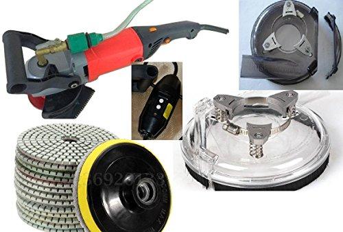 Wet Polisher Concrete Polishing 25 Pad 5 Buff 5 Grinding Wheel Granite grinder