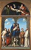 solar oven society - Oil Painting 'Francesco Francia - The Saint Anne Altarpiece From San Frediano, Lucca,about 1511-17' 10 x 16 inch / 25 x 41 cm , on High Definition HD canvas prints, Home Office, Laundry Room, decor