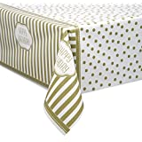 "Golden Birthday Plastic Tablecloth, 84"" x 54"""