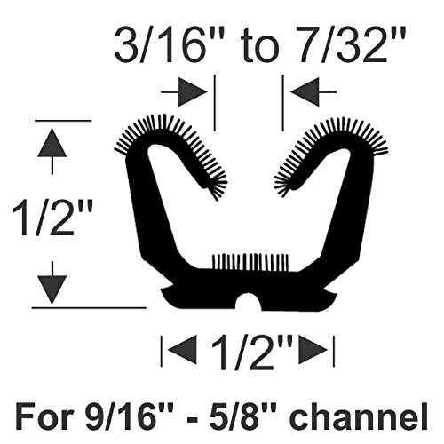 Steele Rubber Products FLEXIBLE FLOCKED U-CHANNEL 96 INCHES - Cooper Standard 75000636 70-3570-58