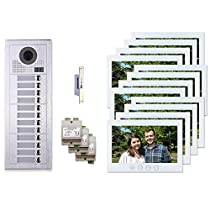 12 Resident Building Entry System 2 Wire Video Intercom Kit 12 Tenant Buttons