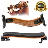 #10: Violin Shoulder Rest for 4/4 3/4 With Collapsible and Fully Adjustable for Both Height and Angle Black Feet Fit For Adult Beginner Professionals