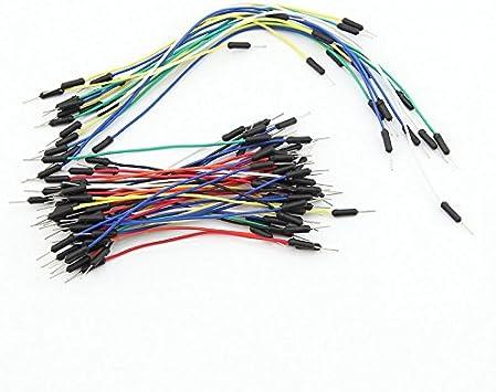 65 PCs breadboard steckbrücken puentes de cables flexibles Jumper yo cable zb02029