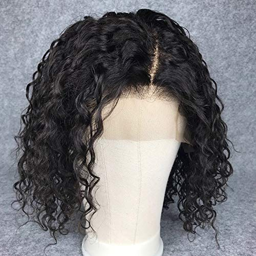 Short Bob Full Lace Human Hair Wigs With Baby Hair For Black Women Pre Plucked Hairline Brazilian Virgin Lace Front Human Hair Wigs 8''-16'' Loose Curly Hair Natural Color (Lace Front Wig 8) by Berimy (Image #3)