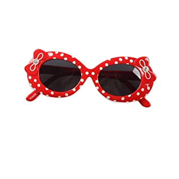 Defect Gafas de Sol Infantiles Rojo Correa Taladro Mariposa ...