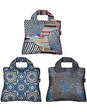 Envirosax Mallorca Reusable Grocery Bags, Set of 3, Seashells & Deco