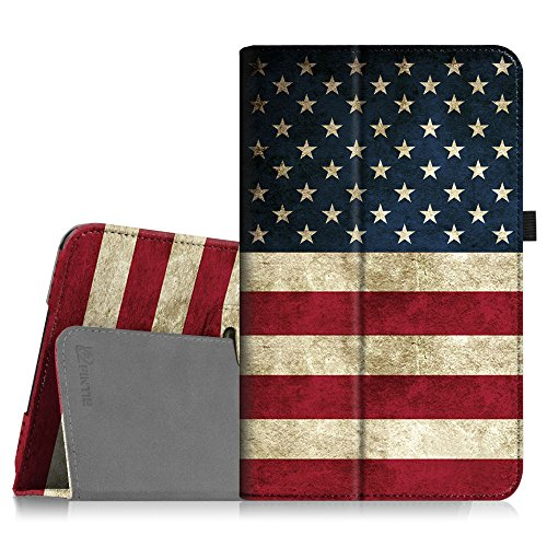 Fintie Folio Case for Samsung Galaxy Tab A 10.1 (2016 NO S Pen Version), Premium PU Leather Slim Fit Smart Stand Cover with Auto Sleep/Wake for Galaxy Tab A 10.1 (SM-T580/T585/T587), US Flag