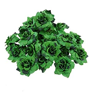 ULTNICE Artificial Faux Flower Heads Home Garden Party Decor 50pcs(Dark Green) 11