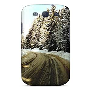 ItcFuOz7816AdXYA Case Cover Snow Path Galaxy S3 Protective Case