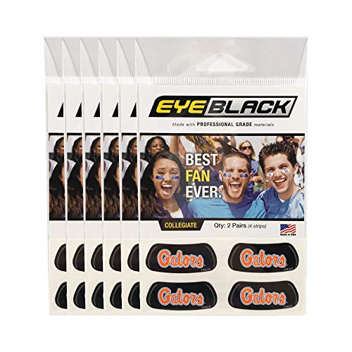 EyeBlack (24 Strips) Florida Gators Script Anti Glare Stickers, Great for Fans & Athletes on Game Day ()