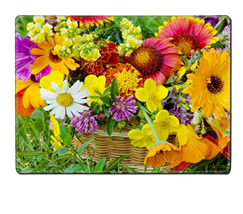 MSD Natural Rubber Placemat IMAGE ID: 7884591 Beautiful flowers in a basket