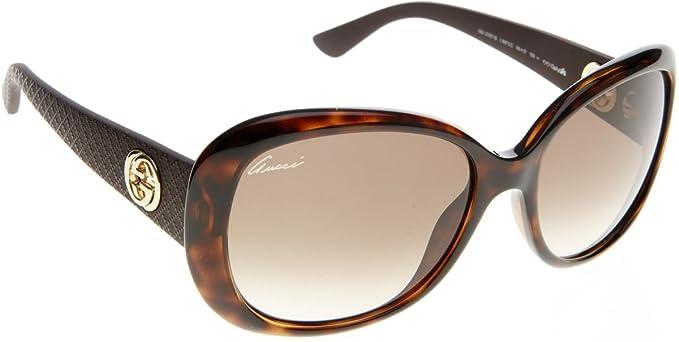 Gucci Gafas de Sol 3787/SCCLWF56_LWF (56 mm) Havana: Amazon ...