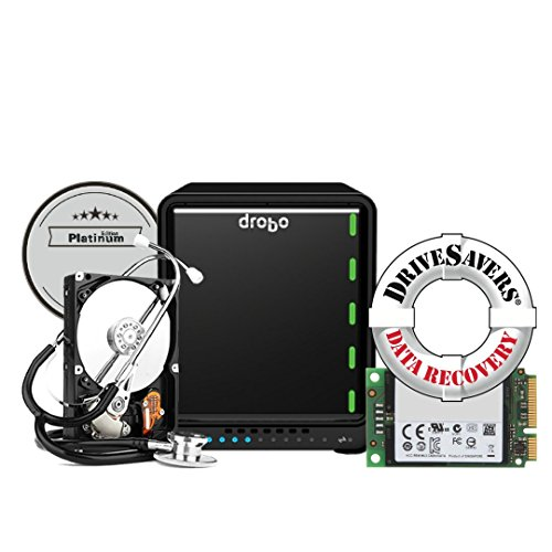 Drobo 5N2 Platinum Edition: 5-Drive Network Attached Storage (NAS) Array - Dual Gigabit Ethernet Ports (DRDS5A21-P)