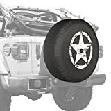 2018 Jeep Wrangler JL & JLU - 32'' Soft Tire Cover - Distressed Star - White Print - Made in the USA