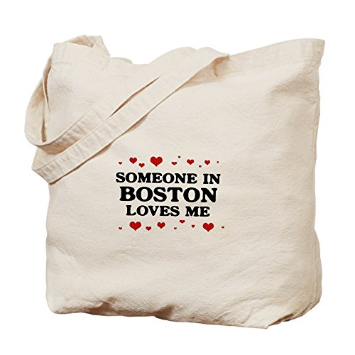 CafePress - Loves Me In Boston - Natural Canvas Tote Bag, Cloth Shopping - Shopping Boston In