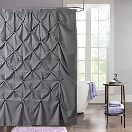 Sweet Home Collection Fabric Pinch Pleat Pintuck Design, Shower Curtain (70