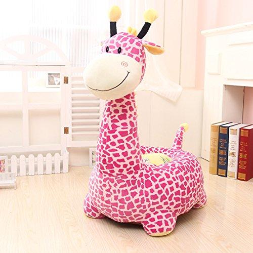 Giraffe Sitting (MAXYOYO Kids Plush Riding Toys Bean Bag Chair Seat for Children,Cartoon Cute Animal Plush Sofa Seat,Soft Tatami Chairs,Birthday Gifts for Boys and Girls (pink giraffe))