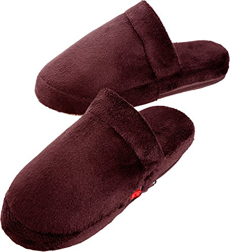 Heated Slippers for Men and Women Battery Operated Electric Heating Warm Ultra Soft Foot Warmers Give Your Feet Luxury Warmth Keep Them Cozy During Winter Perfect for Hot Therapy by Perfect Life (Disposable Foot Sox)