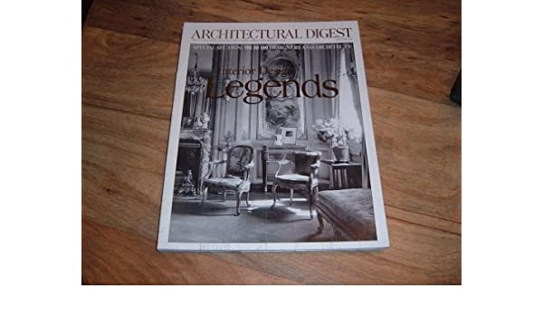 Architectural Digest January 2000 Issue Interior Design Legends