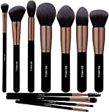 BS-MALL(TM) Premium Synthetic Kabuki Makeup Brush Set Cosmetics Foundation Blending Blush Eyeliner Face Powder Brush Makeup Brush Kit (11pcs, Golden Rose)