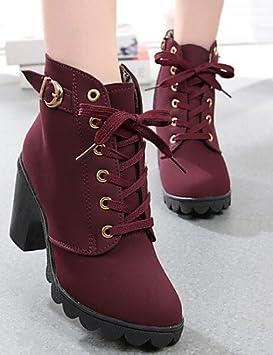 XZZ/ Zapatos de mujer - Tacón Robusto - Comfort / Botines - Botas - Vestido