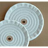 """2 PC 8"""" X 5/8"""" Ply Soft Cotton Bench Grinder Buffing Wheels (8BUFF088(2pc)"""