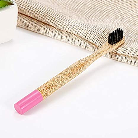 Amazon.com: Dunnomart 1PC Eco Friendly Bamboo Toothbrush Natural Soft Bristle Wooden Handle Charcoal Toothbrush Travel Dental Oral Care: Kitchen & Dining