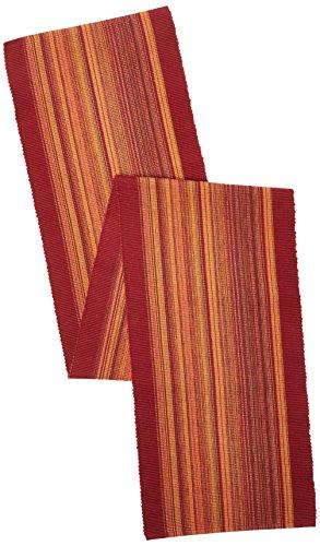 Elrene Home - Camino de Mesa de algodón, diseño clásico, 33 x 183 cm, Color Rojo, Casual, Rojo, 13' x 72', 1, 1