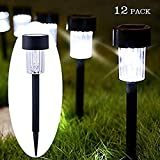 Maggift Solar Pathway Lights Solar Garden Lights Outdoor Solar Landscape Lights for Lawn 12 Pack, Patio, Yard, Walkway, Driveway