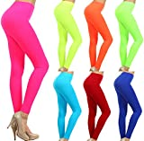 Neon Nation Colored Seamless Leggings Athletic Pants Costume Party Tights Quality