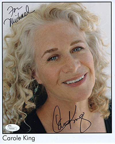 CAROLE KING HAND SIGNED 8x10 COLOR PHOTO FOLK MUSIC LEGEND TO MIKE - JSA Certified from Hollywood Memorabilia
