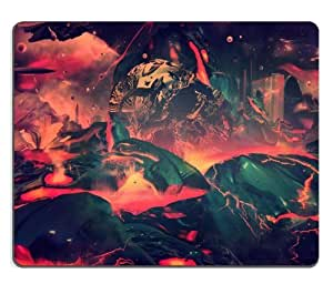 Fantasy Apocalypse Blast Paint Design Mouse Pads Customized Made to Order Support Ready 9 7/8 Inch (250mm) X 7 7/8 Inch (200mm) X 1/16 Inch (2mm) High Quality Eco Friendly Cloth with Neoprene Rubber Luxlady Mouse Pad Desktop Mousepad Laptop Mousepads Comfortable Computer Mouse Mat Cute Gaming Mouse pad