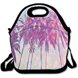 Starmiami Palm Trees Hawaii Lunch Bag Tote Handbag Lunch Boxes For Adults, Kids, Girls, And Women