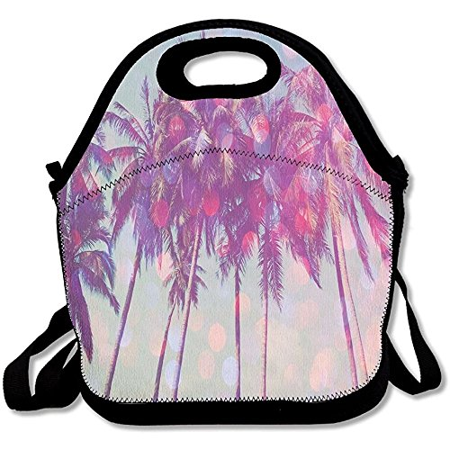 Starmiami Palm Trees Hawaii Lunch Bag Tote Handbag Lunch Boxes For Adults, Kids, Girls, And Women by Starmiami