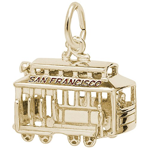 Rembrandt Charms, Cable Car, San Francisco, 10k Yellow Gold ()