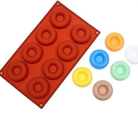 hunpta silicona Donut magdalenas molde de tarta Chocolate Candy para galletas Cupcake Molde para hornear pan